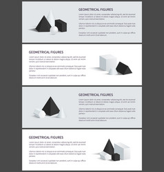 Geometrical figures set poster vector