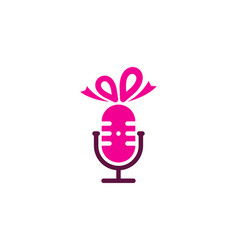 gift podcast logo icon design vector image