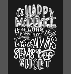 hand lettering inspiring vector image