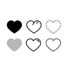 heart and love icon in flat style love symbol vector image