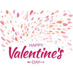 heart confetti background of valentines petals vector image