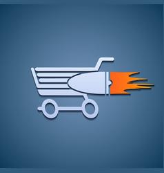 Icon shopping cart vector