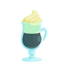 Irish coffee icon cartoon style vector image