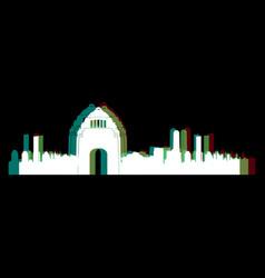 Isolated mexico city cityscape vector