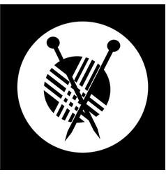 Knitting icon vector