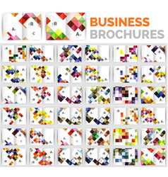 mega set of business brochure design templates vector image