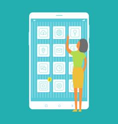 Mobile programs collection vector