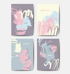 modern grunge brush postcards vector image