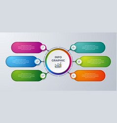 modern infographic with 6 steps vector image