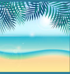 nature summer vacation tropical background with vector image