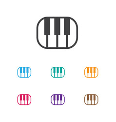 of media symbol on pianoforte vector image