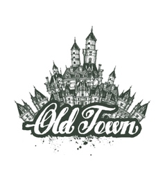 Old Town sketch artwork vector