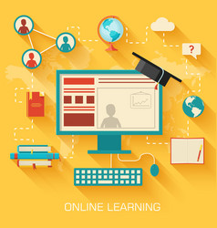 online learning infographic background concept in vector image