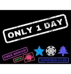 Only 1 Day Rubber Stamp vector