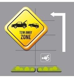 Parking zone graphic design vector