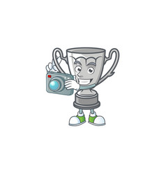 Photographer silver trophy isolated with the vector