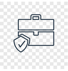 Portfolio concept linear icon isolated on vector