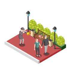 Private detective isometric design concept vector