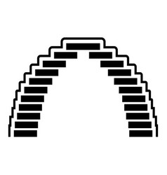 pyramid arch icon simple style vector image
