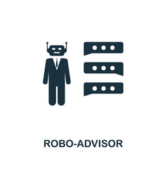 robo-advisor icon creative element design from vector image