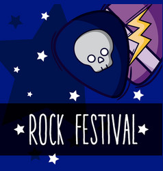 rock festival cartoon vector image