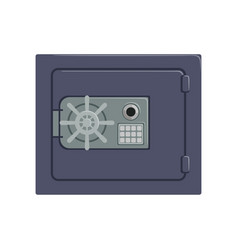Safe metal box with a mechanical combination lock vector