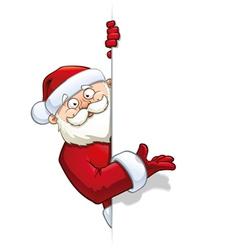 Santa pointing at a label vector