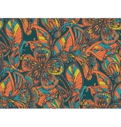 seamless pattern with hand drawn color vector image
