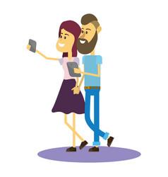 selfie with smartphone vector image