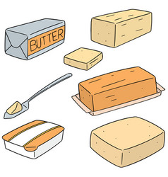 Set of butter vector