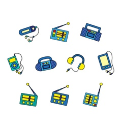 Set of music devices vector