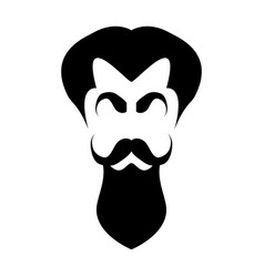 silhouette hair eyebrows mustache and beard vector image