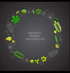 Spring abstract floral background with place for vector