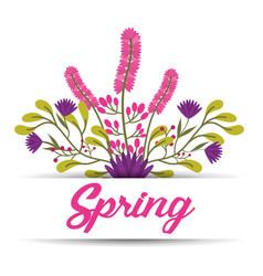 spring floral ornament lettering greeting banner vector image
