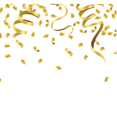 Stock defocused gold confetti isolated on a vector