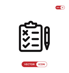 test icon vector image
