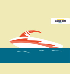 water scooter ship at sea transport vector image