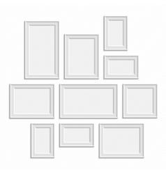 White frame big set vector image