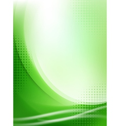 abstract green flowing background vector image vector image