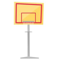 basketball hoop cartoon vector image vector image