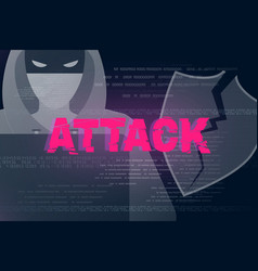 hacker attack theme background vector image