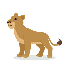 lioness or lion cub cartoon icon in flat design vector image vector image