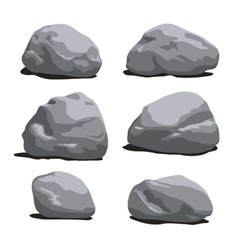 Set of Rocks and stones different shapes vector image vector image