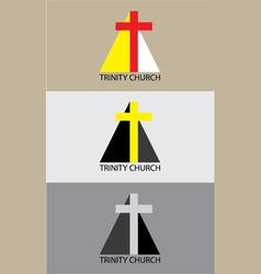Trinity church icon vector