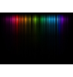 vertical lines abstract rainbow dark top vector image vector image