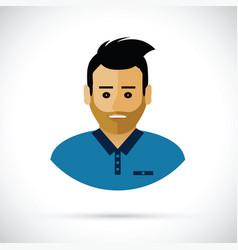 a man profile cartoon vector image vector image