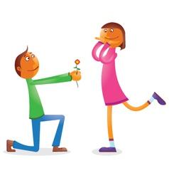 Cartoon Couple vector image