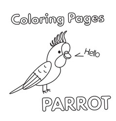cartoon parrot coloring book vector image