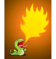 dragon spewing flames vector image vector image