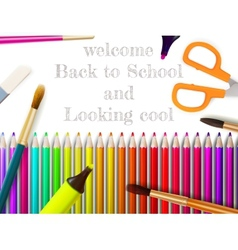 Modern school background with copyspace EPS10 vector image